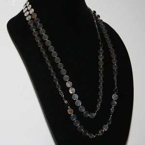 """Vintage Silver coin necklace 50"""" long"""